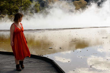 "The ""Champagne Pool"", a vast hot spring in the Wai-O-Tapu area"